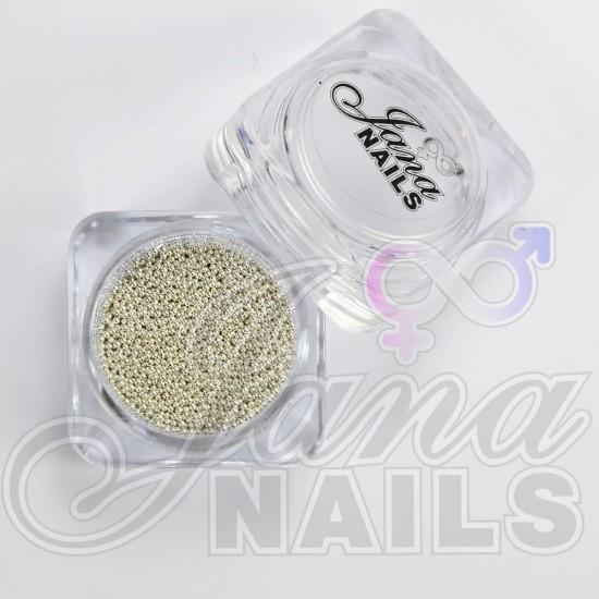 Nail Caviar Beads - Silver