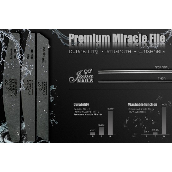 Premium Miracle File Thin 100/180